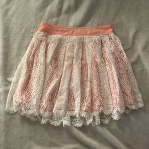 urban outfitters - pins & needles white lace skirt